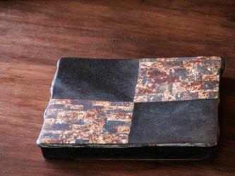 黒釉七寸台皿(puzzle)の画像