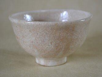 手ひねりのお碗(白化粧+透明釉)の画像