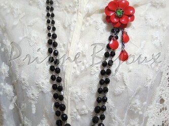 """Necklace & Brooch """"Sasanqua""""の画像"""