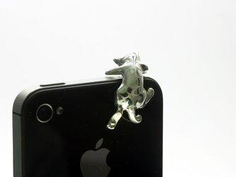 スマートフォン用トラ猫のイヤホンジャックアクセサリーの画像