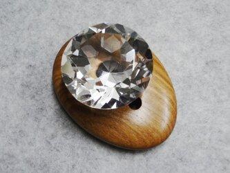 月の女神の勾玉&ダイヤカットの本水晶50の画像