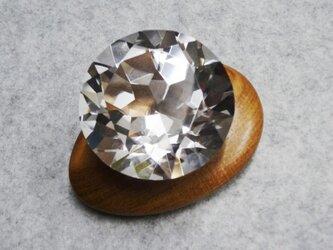 月の女神の勾玉&ダイヤカットの本水晶60の画像