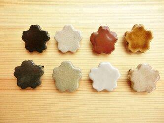 【2個セット】桜の陶ブローチの画像