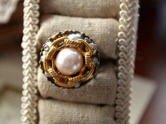 ビンテージボタン * 指輪の画像