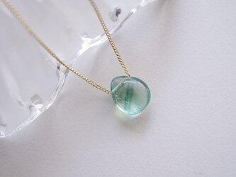 フローライトのネックレス 天然石 ライトグリーン-再の画像