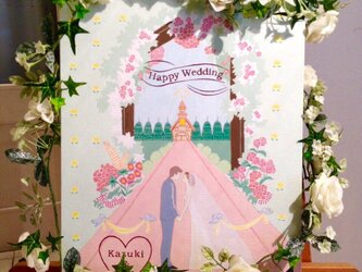 wedding board(welcome board)原画の画像