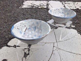 雪柄の鍋取り鉢の画像