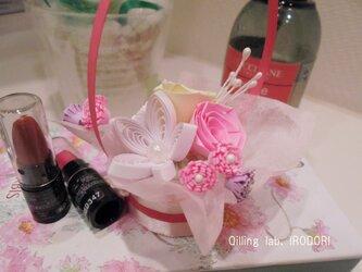クイリングのミニ花かごの画像