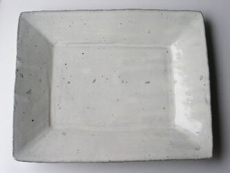 粉引種子紋四方皿 大の画像