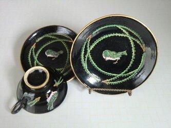 小鳥のカップ&ソーサ・パン皿の画像