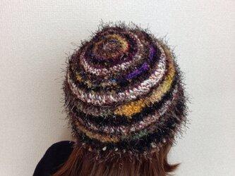 キラキラファーの帽子の画像