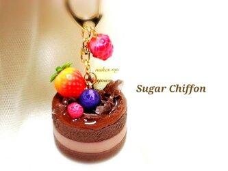 【送料無料】とろ~りチョコレートケーキのキーホルダー♡の画像