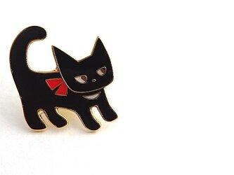 ピンバッジ「月からきた猫」の画像