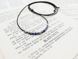 キャメルボーンビーズのネックレス N2の画像