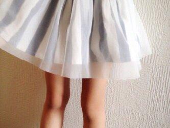 チュール ストライプスカートの画像