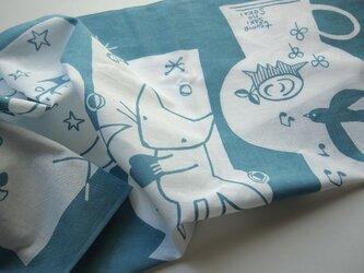 ツメサキオリジナル捺染手ぬぐい「ランプの中の童話」の画像