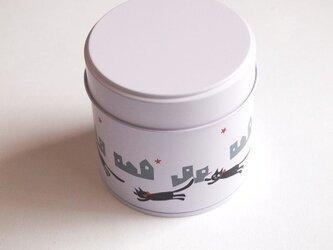 ちいさなお茶缶「夜を駈ける猫」の画像