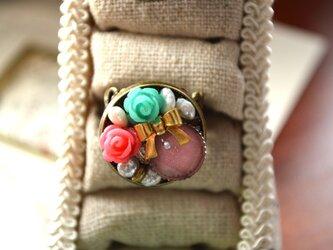 アンティークなお花リング * 指輪の画像