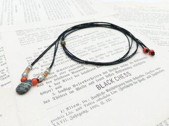 レインボーカルシリカのネックレス N3の画像