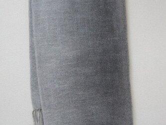 竹炭染 ストール  シルク100%真綿紬の画像