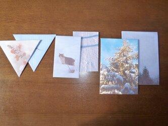 封筒6点~ゆき3~の画像