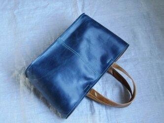 【受注生産】ラクダ革の横長バケツトートバッグの画像
