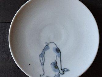 染付4寸猫皿 24の画像