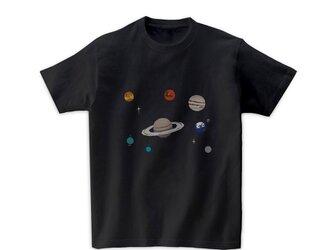 宇宙Tシャツ-太陽系(黒)の画像