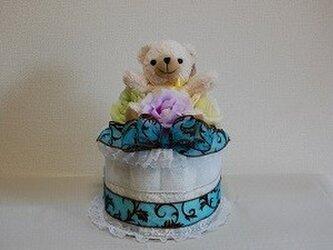 くまちゃんのおむつケーキの画像