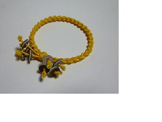 編みゴム(ヘアゴム)~黄の画像