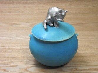 Silver Cat Candy Box-E・ターコイズの画像