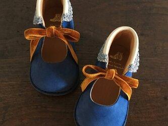 round-collar boots * majolica blueの画像