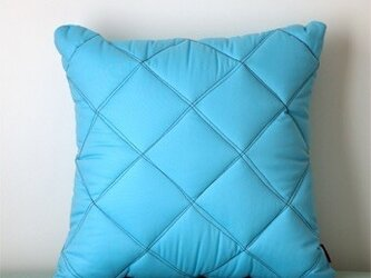 Quilt cushion (M) / ice blueの画像