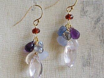 fusa : Grape & Marquise(earring)の画像