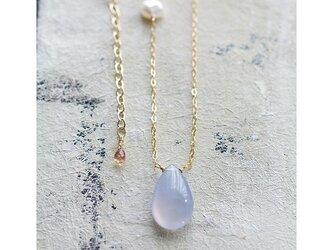 Blue Chalcedony & Keshi Pearlの画像