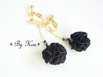 ✿~Black bouquet~✿ロングイヤリング。の画像