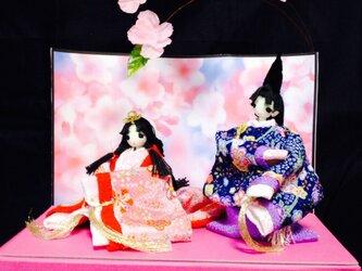 源氏くんとかぐや姫ちゃんの画像