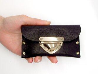 クラッチ・カードケース(名刺入れ)  P式マットスムース革(黒)の画像
