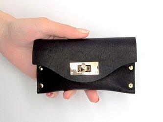 クラッチ・カードケース(名刺入れ)  T式マットスムース革(黒)の画像