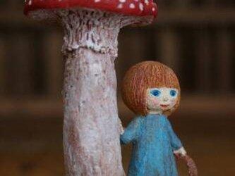 陶人形/ きのこの精の子の画像