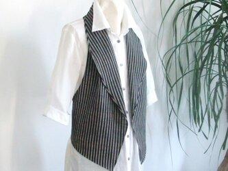 Aizu cotton ジレの画像