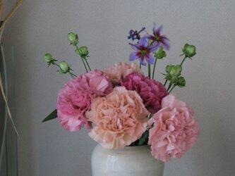 粉引~御本手~ 花瓶(小)の画像