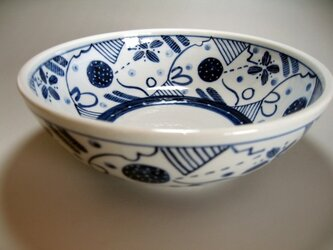 ブルーの鉢の画像