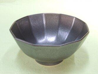 黒マット釉飯碗の画像