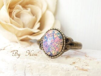§pink opal§ヴィンテージ・リング。の画像