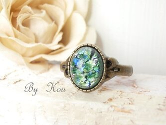 §green opal§ヴィンテージ・リング。の画像