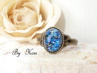 §blue opal§ヴィンテージ・リング。の画像
