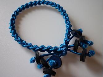 編みゴム(ヘアゴム)~ブルーの画像