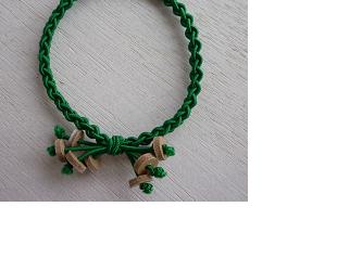 編みゴム(ヘアゴム)~グリーンの画像