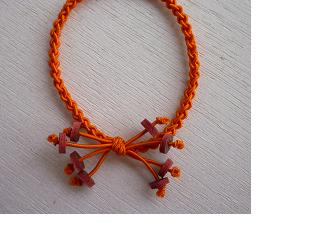 編みゴム(ヘアゴム)~オレンジの画像
